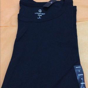 NWT Lands' End navy blue short sleeve tee shirt